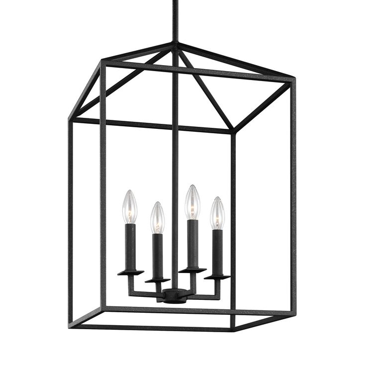 Perryton Blacksmith 12.5 Inch Four Light Lantern Pendant Sea Gull Lighting Lantern Pendant