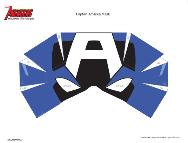 19 best printables papercraft images on pinterest for Avengers mask template