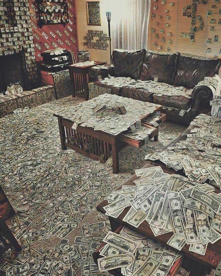 комната с деньгами для фотографий лечебные