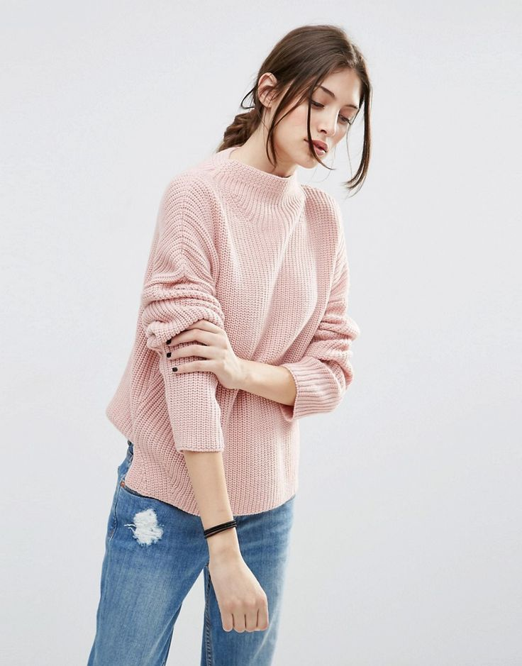 ASOS Ultimate Chunky Jumper with High Neck at asos.com
