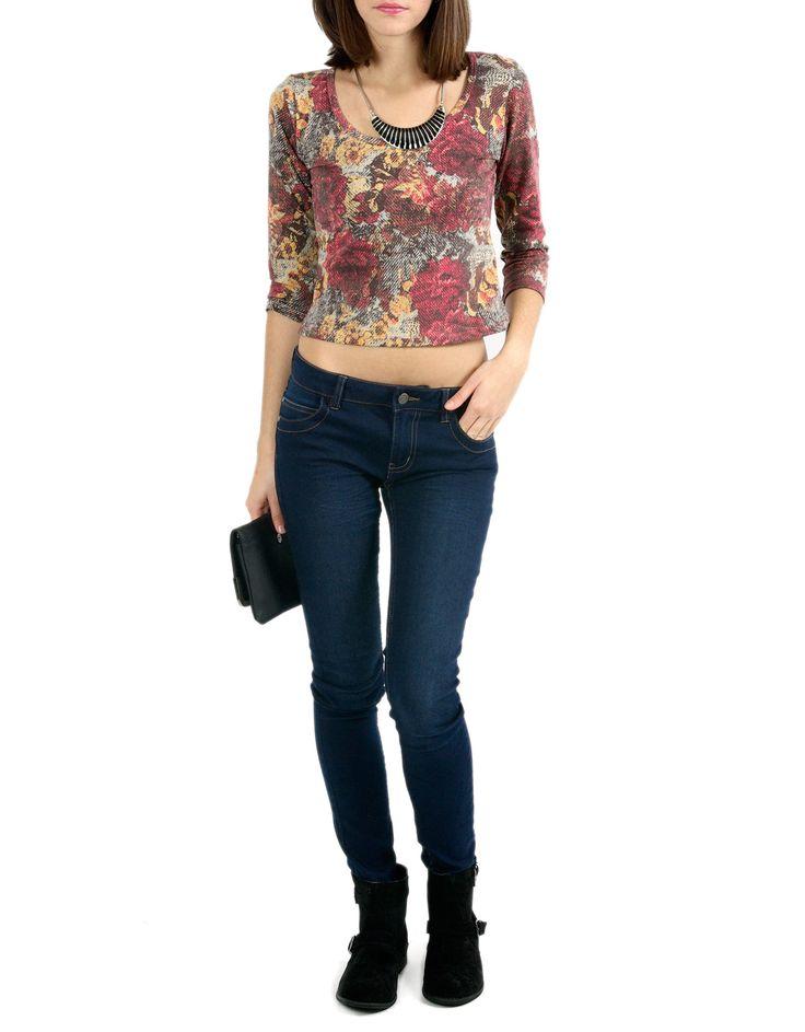 #Camiseta Shana cropped estampado flores. 7,99€ en www.shana.com #fashion #trends #ropa