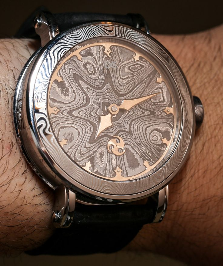 Gustafsson & Sjogren Damascus Steel case and movement watch