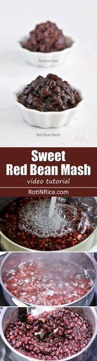 Learn how to make Sw Learn how to make Sweet Red Bean Mash in...  Learn how to make Sw Learn how to make Sweet Red Bean Mash in this video tutorial. It is a popular ingredient used in many Chinese and Southeast Asian desserts. | RotiNRice.com Recipe : http://ift.tt/1hGiZgA And @ItsNutella  http://ift.tt/2v8iUYW