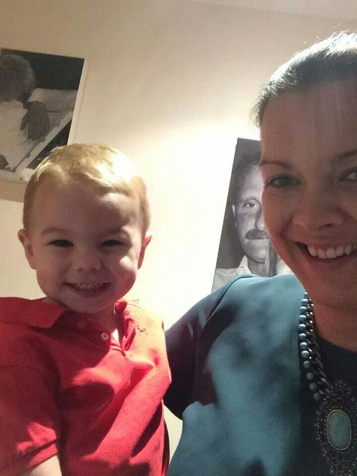 Thomas-James & Emma-louise taking a selfie! X