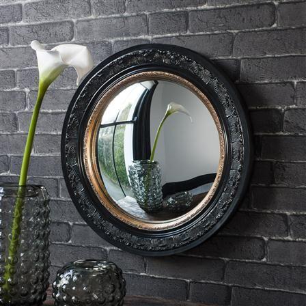 Miroir, noir/doré [Langford Convex]