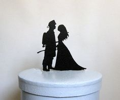 Wedding Cake Topper  Fireman and Bride by Plasticsmith on Etsy, $20.00