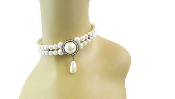 Collier de perles de demoiselle dhonneur par WhyWeLoveThePast