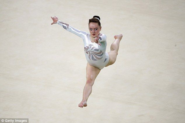 Bronze medal-winning gymnst Amy Tinkler, pictured, is the youngest member of Team GB