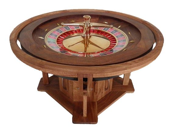 Coffee table casino wheel