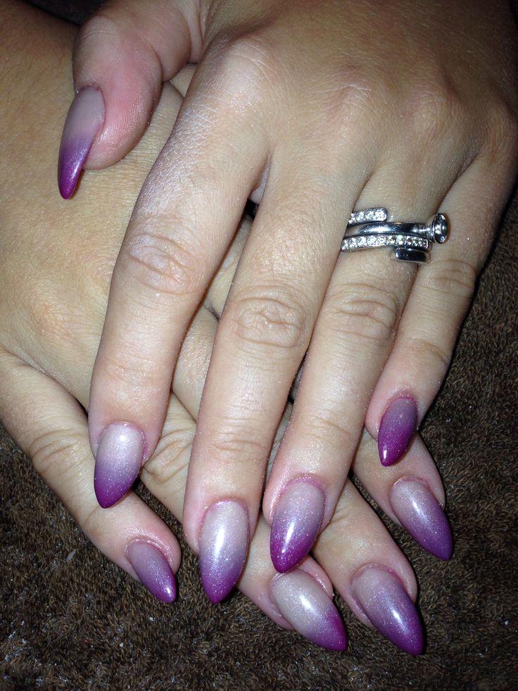 Mood changing gel polish acrylic nails   Sara's nail ...