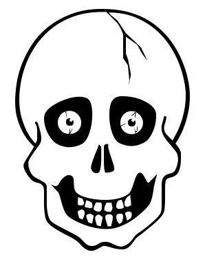 grinning skull eyes - Halloween Skull