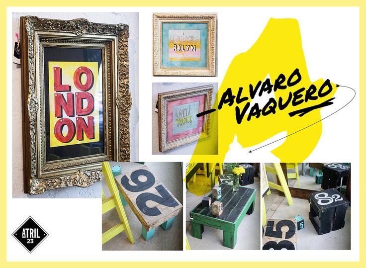 Papers de tipografía Alvaro Vaquero #Arte #AlvaroVaquero #Tipografía #Decoración #Atril23