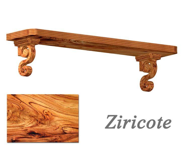 Połka Pompadour drewno ziricote