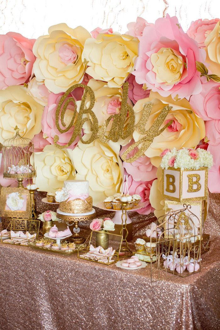 Pink & Gold Butterfly Baby Shower on Kara's Party Ideas | KarasPartyIdeas.com (11)