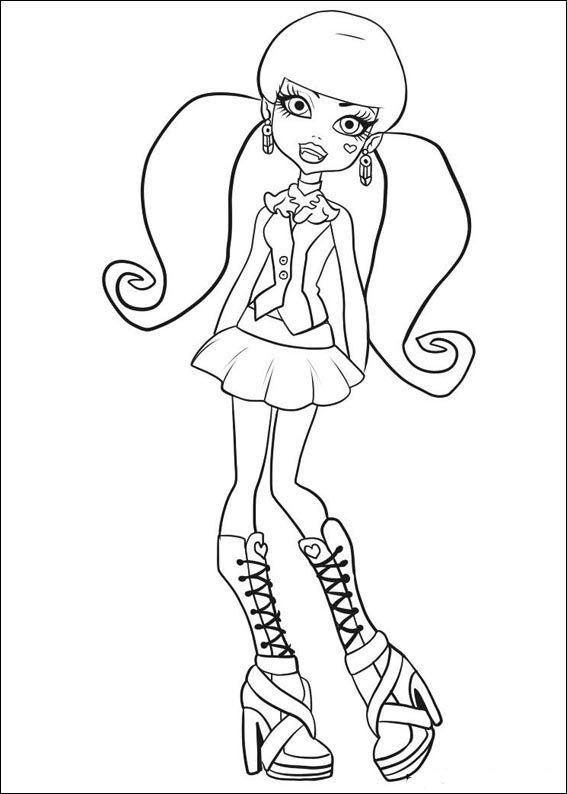 Dibujos para Colorear. Dibujos para Pintar. Dibujos para imprimir y colorear online. Monster High 14