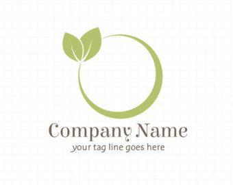 Leaf Logo Nature Logo Leaves Logo Organic Logo door SeloraDesigns