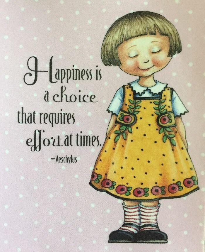 Handmade Fridge Magnet-Mary Engelbreit Artwork-Happiness Is A Choice