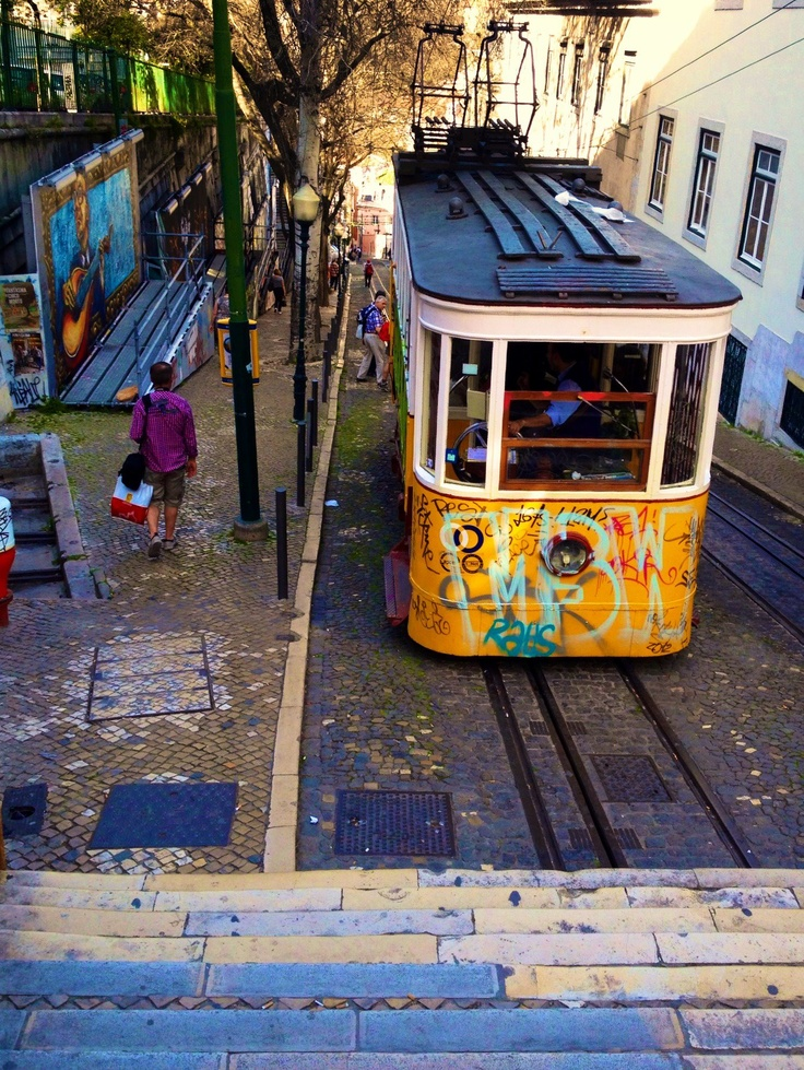 Lisbon, Portugal. I walked all the way up this hill!