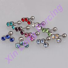 CZ Oor Kraakbeen Piercing Tragus Helix Stud Ring Earring Barbell Crystal(China (Mainland))