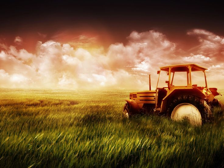Green farm field and tractor wallpaper bugatti Define contemporary country