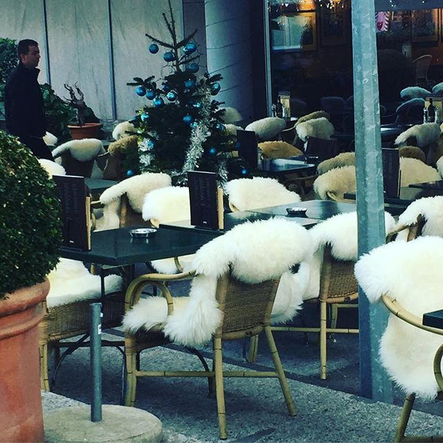 { T H E N I G H T B E F O R E C H R I S T M A S }  on Christmas Eve when it frosty and snowing in the Austrian Valley there is nothing better than sinking into a warm sheepskin and sipping on a glass of mulled wine.  Happy Christmas Eve everyone xxx