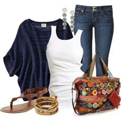 Add cute flats and this is an excellent transition outfit for fall.