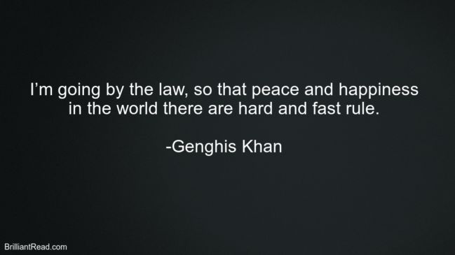 32 Best Genghis Khan Quotes On Life, Leadership And