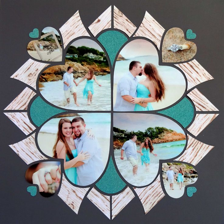 Layout created by Sandy Cucinotti using Lea France Romance stencil. Photo credit, A Brilliant Photo.