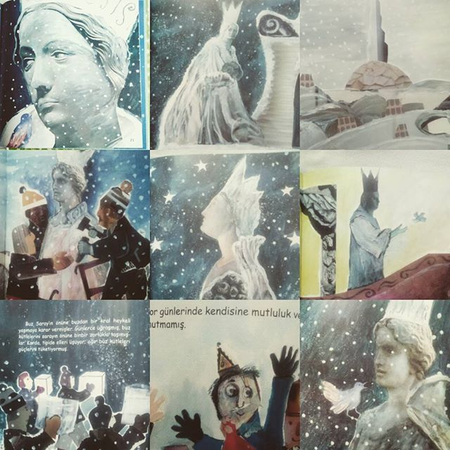 Kış masalları, Buz Kral  Sevginin gücü eksilmesin yüreklerden @aysunberktayozmen #kışmasallarıserisi #buzkral #altınkitaplar #illustration #kolaj #childrenbook #picturebook