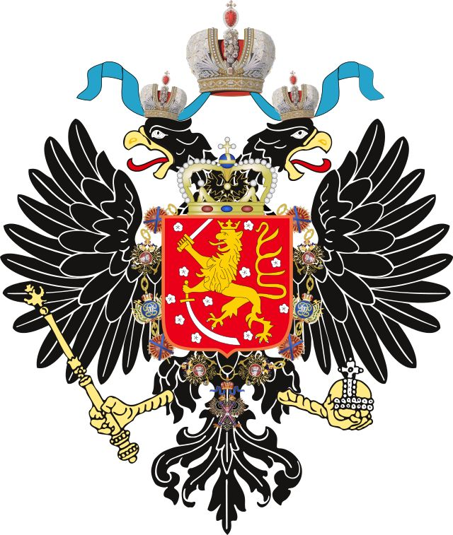 Suomen suuriruhtinaskunta – Coat of Arms of Grand Duchy of Finland-holding sabre.