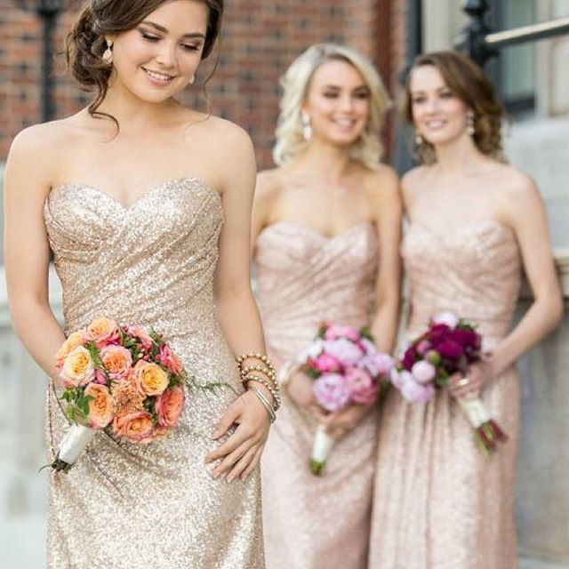 Cheap Wedding Dresses New Orleans: Did You Say SEQUINS?! Available In Gold, Rose Gold