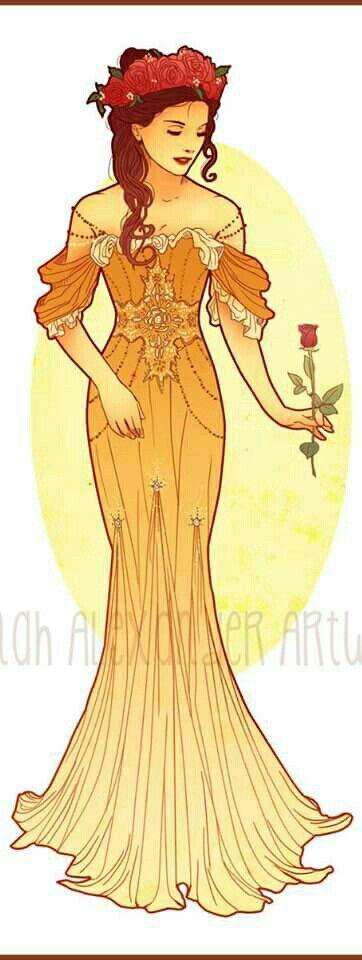 Art Nouveau Costume Designs VII: Belle by Hannah Alexander