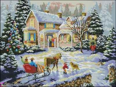 – Coming Home for the Holidays (Dimensions 08733)   Cross Stitching Blog