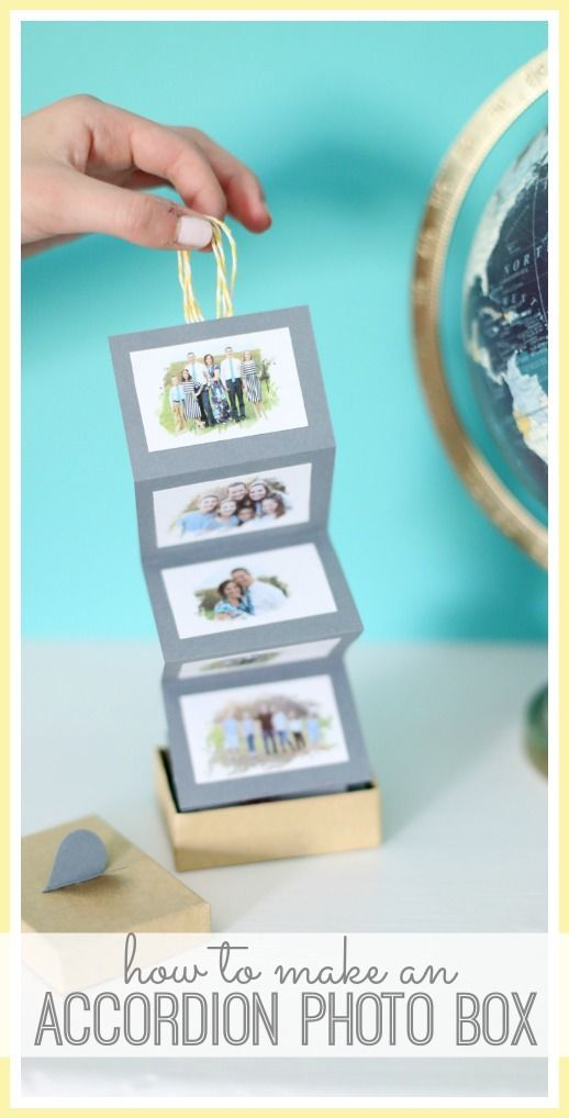 how to make an Accordion Photo Box - fun photo craft gift idea!! - - Sugar Bee Crafts