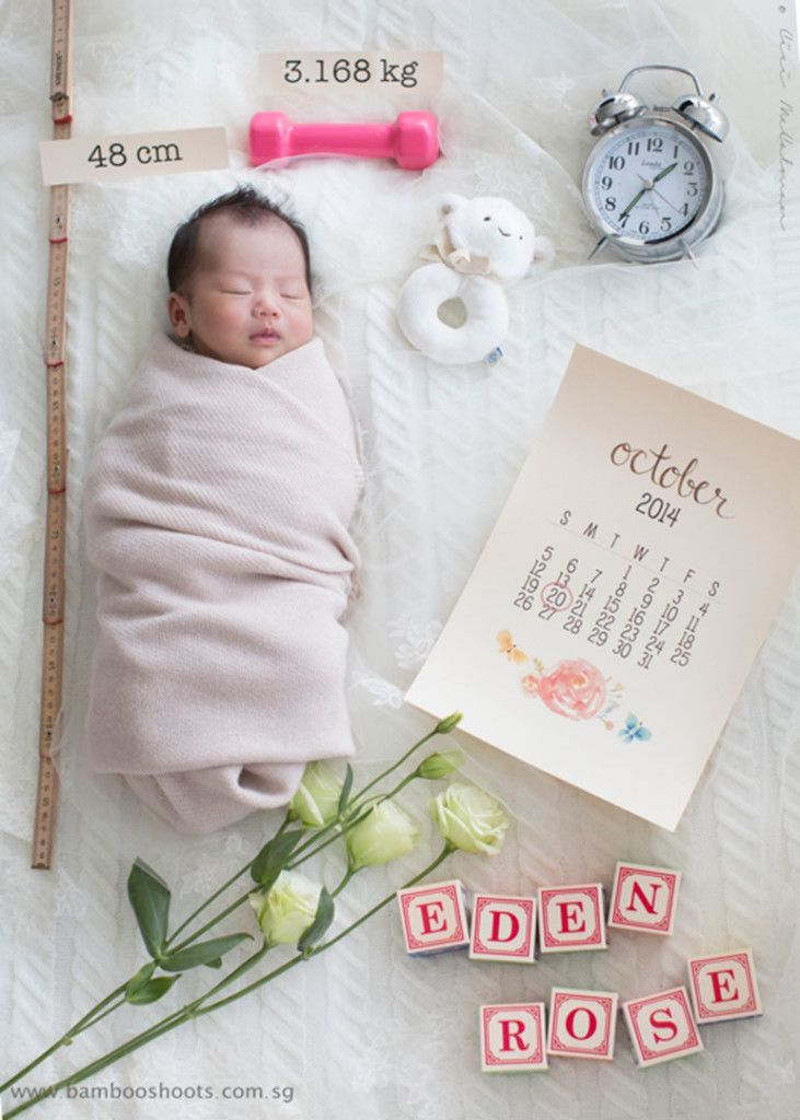 Hello world - Newborn baby photography for a birth announcement.