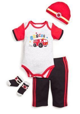 Nursery Rhyme  Fireman 4-Piece Set