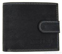Pánská peněženka z broušené kůže WILD 968 tmavě šedá