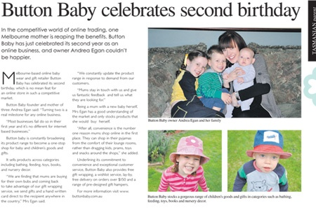 Button Baby celebrates our second birthday. A momentous occasion!