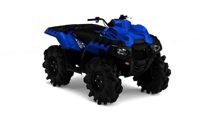 New 2017 Polaris Sportsman 850 Velocity Blue High Lifter ATVs For Sale in Florida. 2017 Polaris Sportsman 850 Velocity Blue High Lifter Edition, Stock 29.5 inch High Lifter Outlaw II tires are mounted on each corner. Giving you a true to size tire, with exceptional ride and handling and enough grip to get you to the end of the mud hole before your buddies. Superior Cooling with a relocated, rack mounted radiator with inverted dual fans, an industry-exclusive design that pulls clean air…