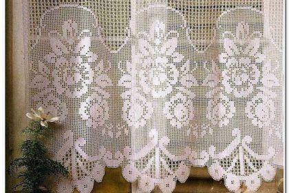 Вяжем занавески с цветами — Рукодельный уголок