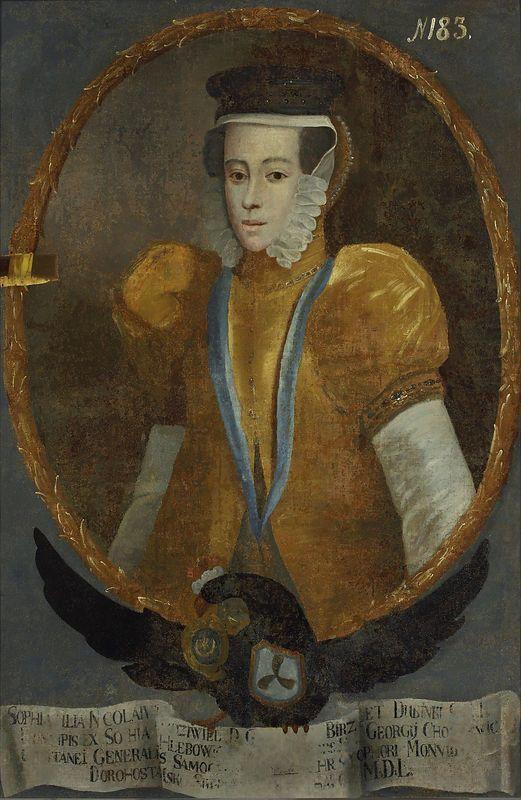 Muzeum Cyfrowe dMuseion - Portret Zofii z Radziwiłłów (post 1582-1613) 1v. Chodkiewiczowej 2 v. Dorohostajskiej