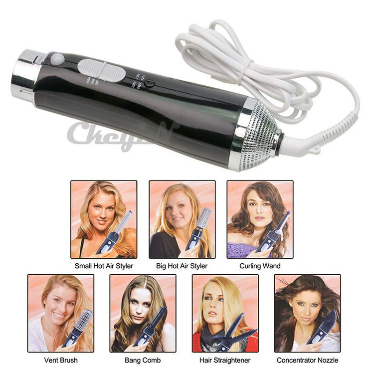 7-in-1 Hair dryer Hot Air Styler Concentrator Nozzle Curling Hair Styling #Ckeyin