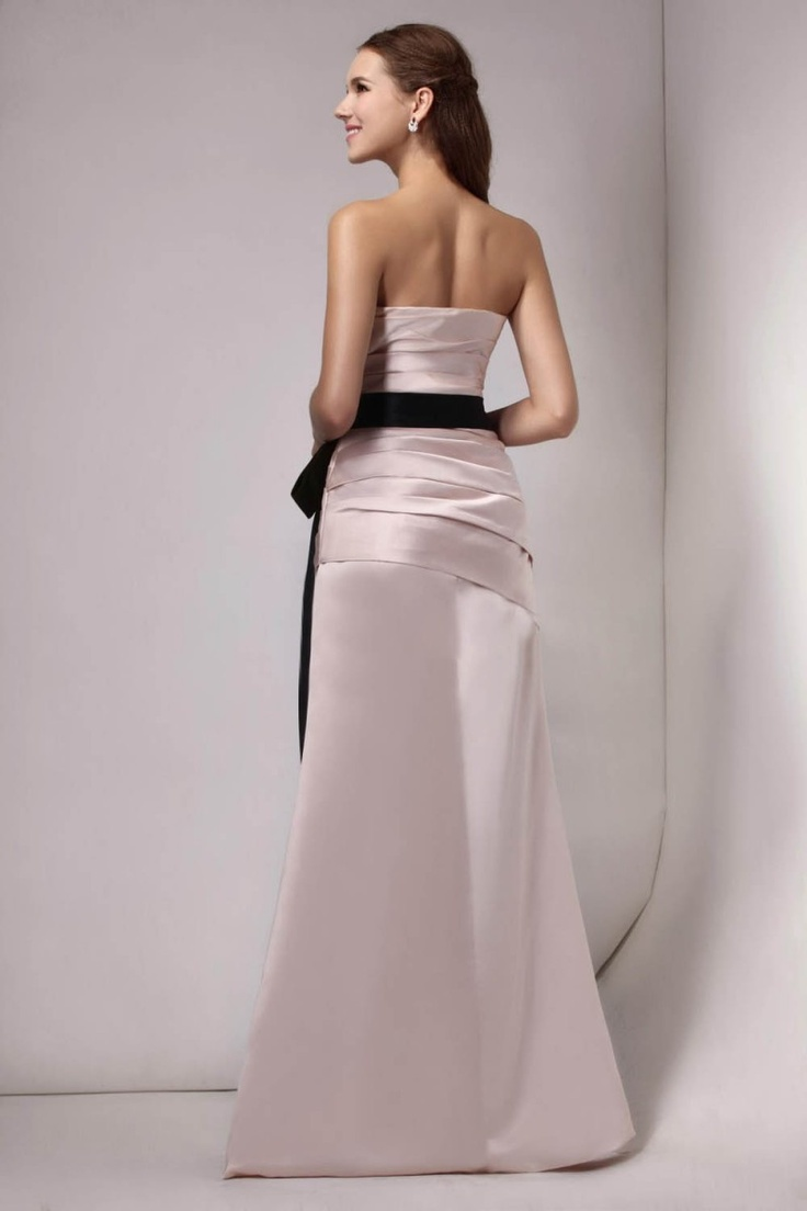 Sheath/Column Sweetheart Sleeveless Bow Floor-length Evening Dress _Bridesmaid_Special Occasions_Find Beautiful Wedding Dresses, best wedding gowns, Buy New Bridal dress on line | Vogueseason.com bridal shop