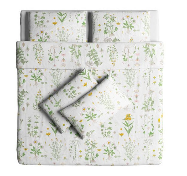 This botanical bedding set from Ikea. | 22 Things You Need If You Just Really Fucking Love Plants