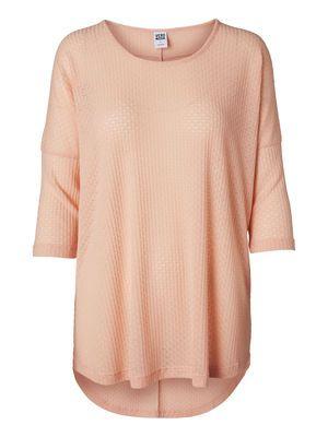 The VERO MODA LUANA 3/4 TOP is perfect for a cute summer look. #veromoda #pink #jumper #fashion @Veronica MODA