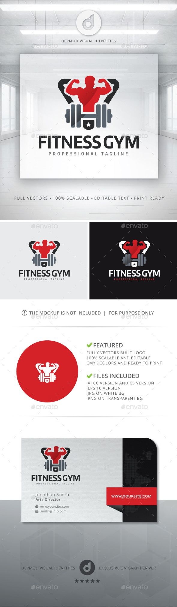 Fitness Gym Logo Template Vector EPS, AI. Download here: http://graphicriver.net/item/fitness-gym-logo/12450996?ref=ksioks