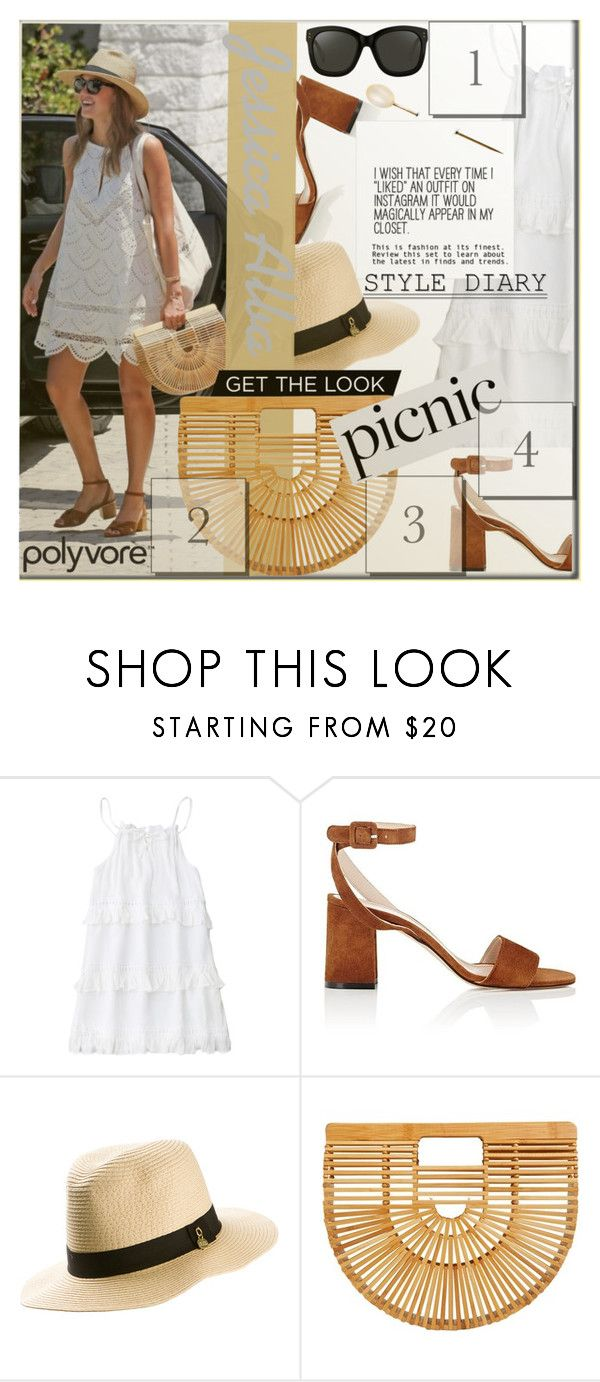 """""""Get The Look!"""" by myfashionwardrobestyle ❤ liked on Polyvore featuring Barneys New York, Melissa Odabash, Cult Gaia and Linda Farrow"""