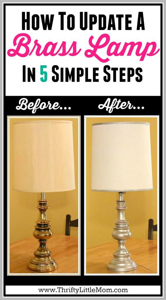 How To Update A Brass Lamp In 5 Simple Steps I Made This Estate