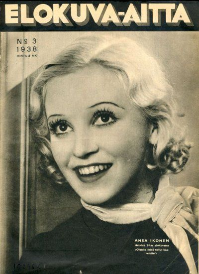Ansa Ikonen, Finnish film star.