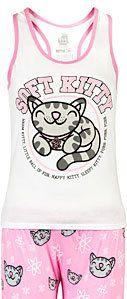 #ThinkGeek                #ThinkGeek                #Soft #Kitty #Ladies' #Pajama                       Soft Kitty Ladies' Pajama Set                                                 http://www.seapai.com/product.aspx?PID=1807176